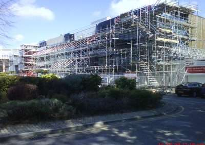 Butress scaffold on sophia gardens
